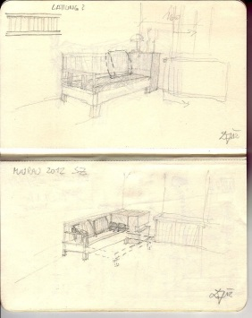 Bettcouch a sketch